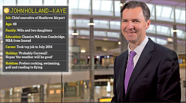 War of words: John Holland-Kaye claims 26 per cent of all exports set off from Heathrow