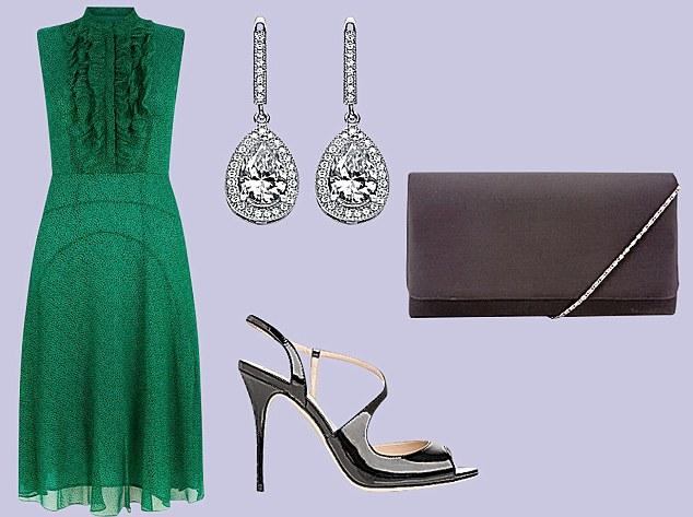 London designer furniture 169 2015 - Worn Four Ways Green Ruffle Dress Daily Mail Online