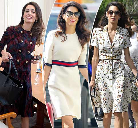 That's rich, Amal! How Mrs Clooney's worn £34,000 of clothes in 14 days
