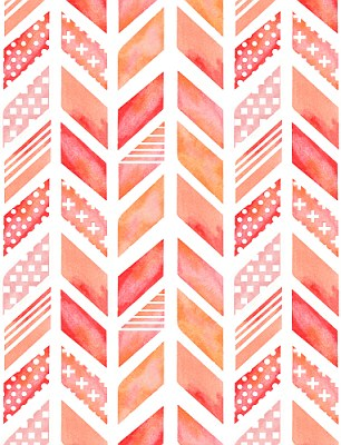 Traditional herringbone has been revived in bold colours for Chevron wallpaper home uk