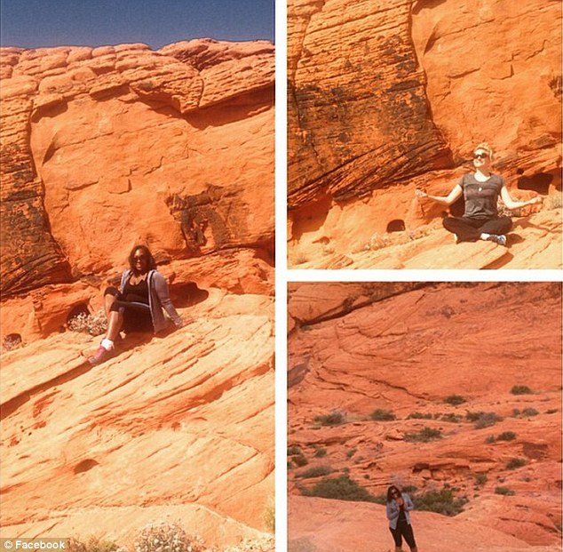 Dominique Sharpton, 30, posted pictures of herself and a friend climbing at Red Rock Canyon, and admitted during her deposition that she had been able to go hiking since her injury