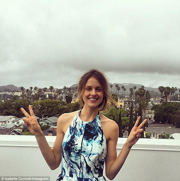 Isabelle Cornish Displays Slim Frame As She Posts