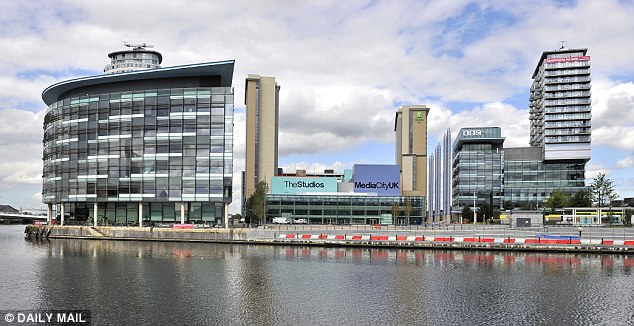 Soaring Salford: The area saw property sales rise 23% annually. Pictured, Media City, built in 2011