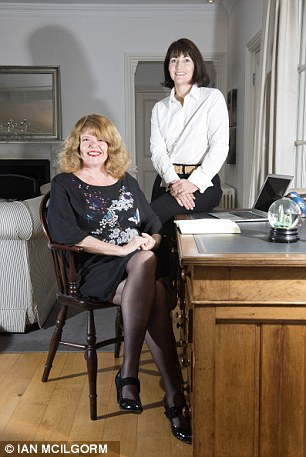 Teamwork: Gaynor Pengelly, seated, with her co-author Julia Thum