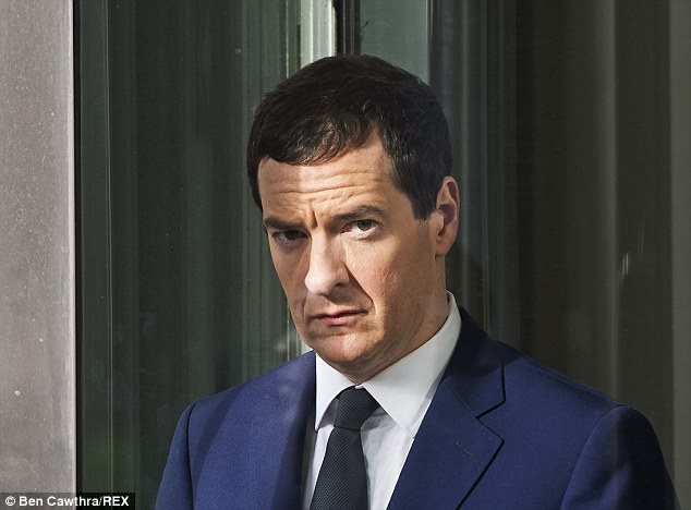 Under the spotlight: George Osborne is plotting to raid savers' pensions for billions of pounds