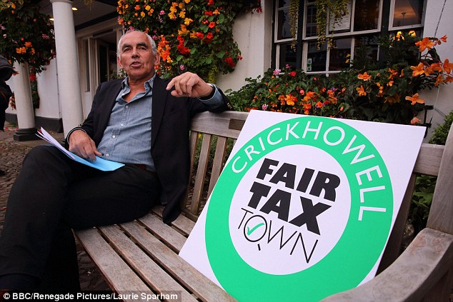 Local businesses led by Steve Lewis (pictured) in the Powys town have set up an offshore company