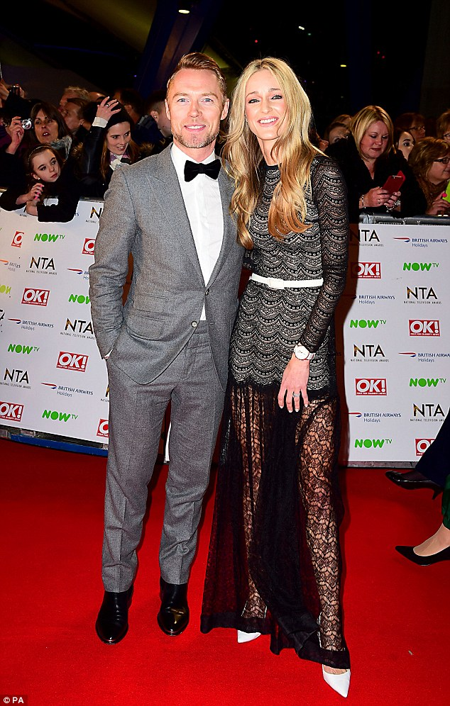 Ronan Keating And Wife Storm Uechtritz At The National