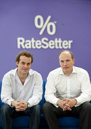 Isa rates: RateSetter was founded by ex-bankers Peter Behrens (left) and Rhydian Lewis