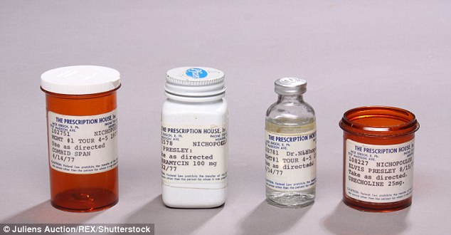Things owned by elvis presley 39 s physician dr george for Things to do with pill bottles