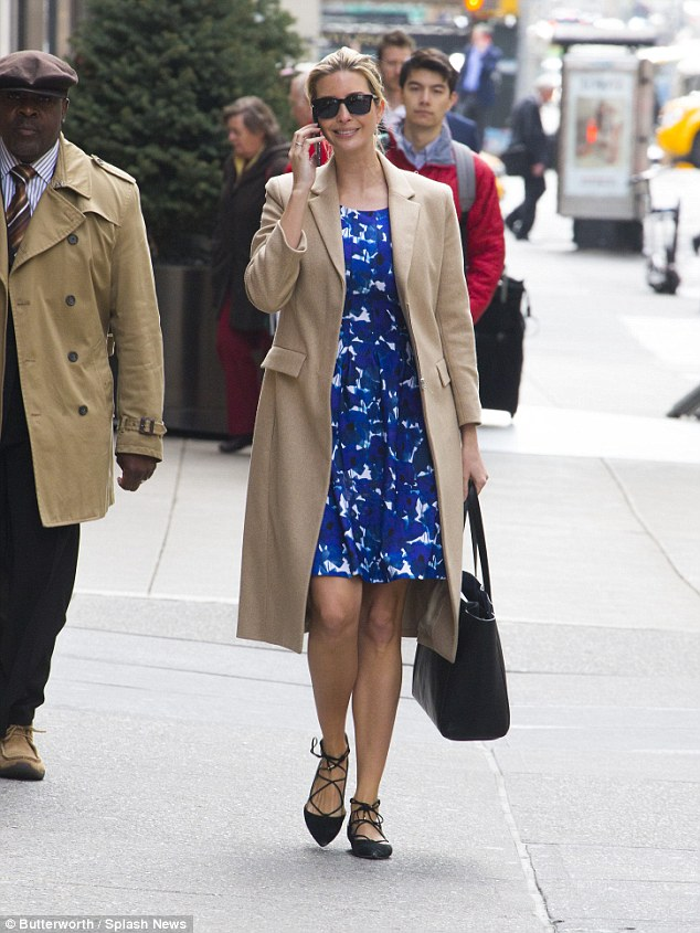 Ivanka Trump Shows Off Dress From Her Fashion Line As She