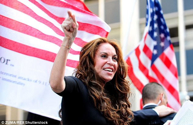 Pamela Geller, pictured, was allegedly targeted because she organised a 'Draw Mohammad' competition