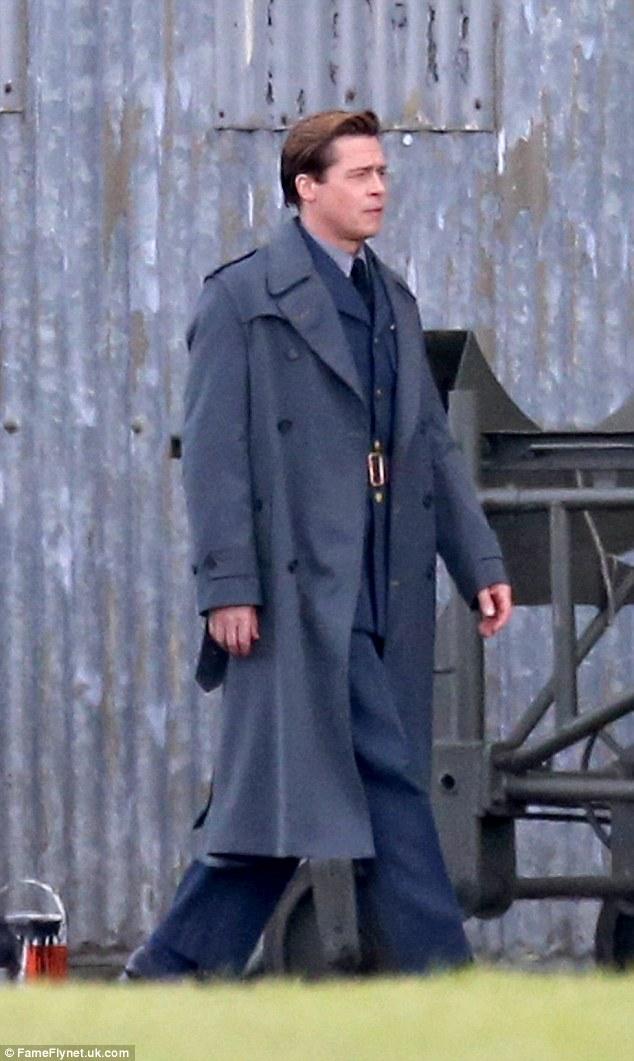 Brad Pitt continues filming World War II drama Allied in ...