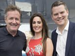 Image licensed to i-Images Picture Agency. 21/06/2016. Cannes, France. Piers Morgan chairs a discussion on Native advertising with Rossette Pambakian from Tinder and Nathan Ansell from Marks & Spencer on the MOL yacht at the Cannes Lions festival. Picture by Stephen Lock / i-Images  FOR MOL
