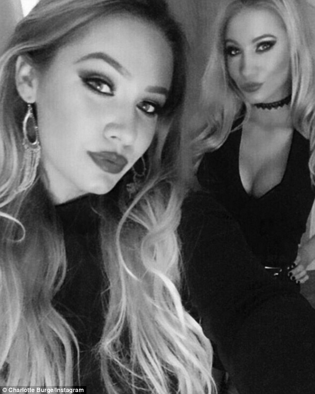 Gorgeous: Charlotte and Chloe have got their selfie faces sorted judging by their pouting shots