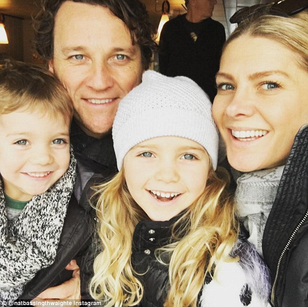 'If I was younger I would definitely have more': Natalie also spoke about having more children with husband Cameron McGlinchey. Pictured with daughter Harper, six, and son Hendrix, two