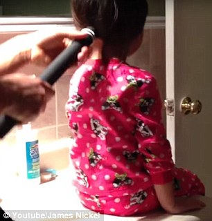 How it's really done: Earlier this year, a viral YouTube video saw a dad style his daughter's hair in a perfect ponytail using a vacuum cleaner