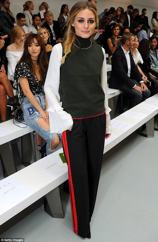 Olivia Palermo attends three LFW shows in one day