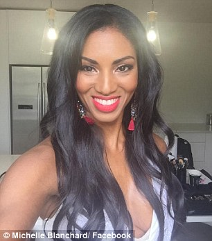 Shock: The Twitter meltdown came after Julia apologised to Michelle (pictured) following the shocking racial slur on the show