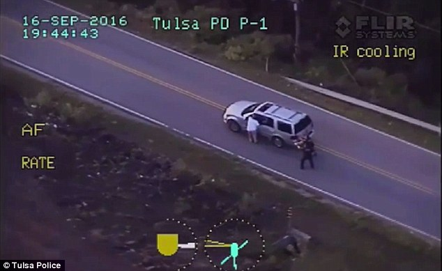 Officers followed Crutcher back to his car with their weapons drawn