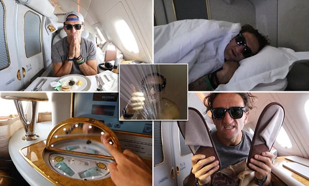 Youtuber Casey Neistat gets upgraded to first class on Emirates flight to NYC