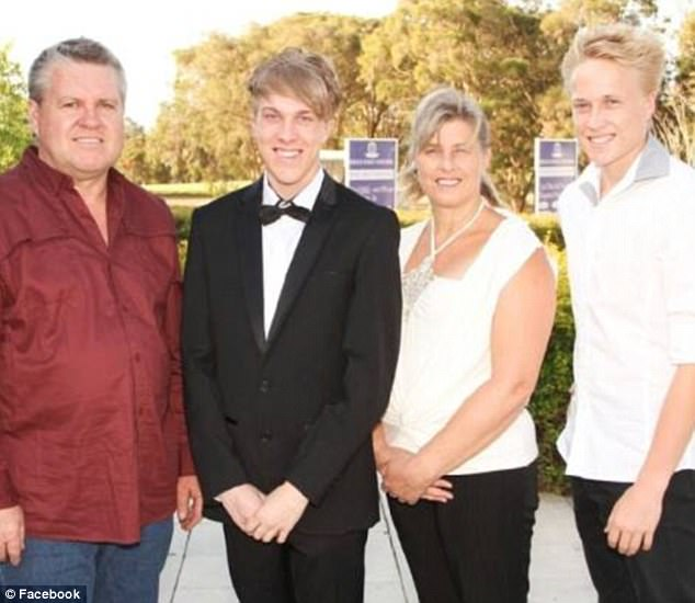 Rick Thorburn (left), his wife Julene (middle right) and two sons, Josh (middle left) and Trent (right) have been charged with a string of offences in relation to the death of Tiahleigh Palmer