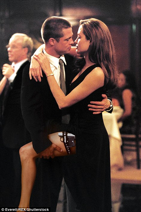 In the beginning: Jolie and Pitt met in 2004 while filming Mr & Mrs Smith (above)
