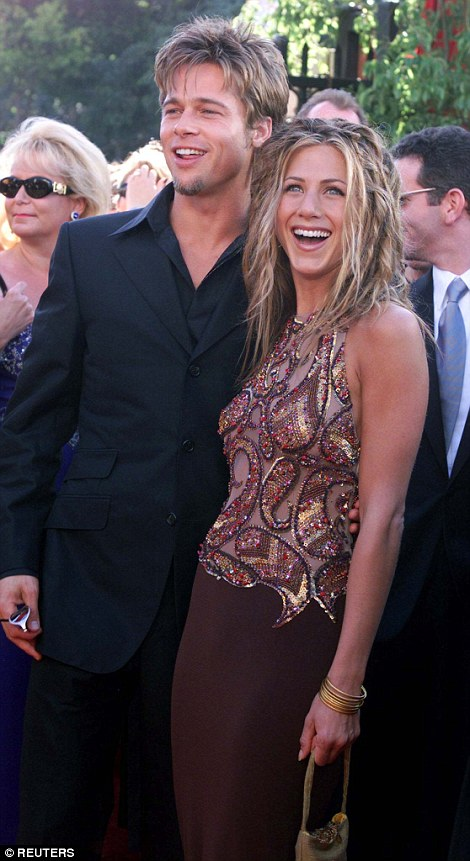 Pitt and Aniston at the Emmys in 1999