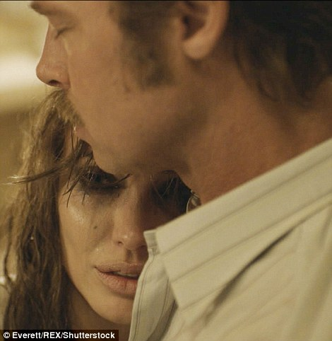 'Brad and I have fights and problems like any other couple': The actress said the film was 'kind of a message to each other that we are going to weather whatever comes and stick together'