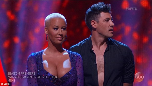 Don't want to go! Amber Roselooked tense ahead of the first elimination from DWTS on Tuesday