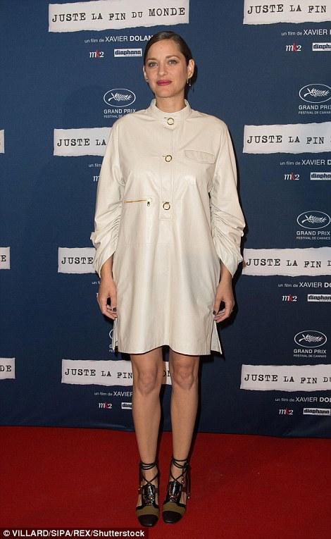 Cotillard at her film's Paris premiere