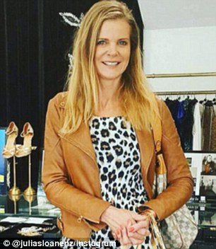 Out there:Social media into meltdown on Tuesday after the airing of Real Housewives Of Auckland where Julia Sloane (pictured) referred to her co-star Michelle Blanchard a 'n***er'