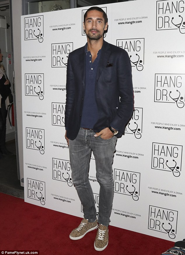 Stepping out: Hugo was appearing at the Hang Dr. launch party at Archer Street Cocktail Bar in London
