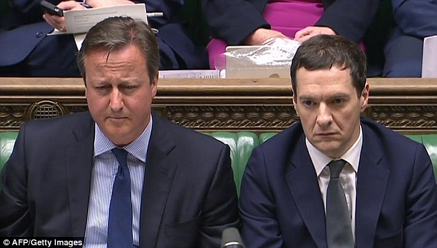 The fall in confidence coincided with a string of high-profile claims from David Cameron and his Chancellor George Osborne (pictured in the Commons together in April) about the consequences of a Brexit vote