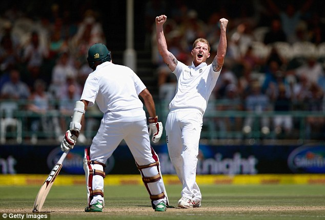 The emergence of players like Ben Stokes (right) has eased the burden on Anderson