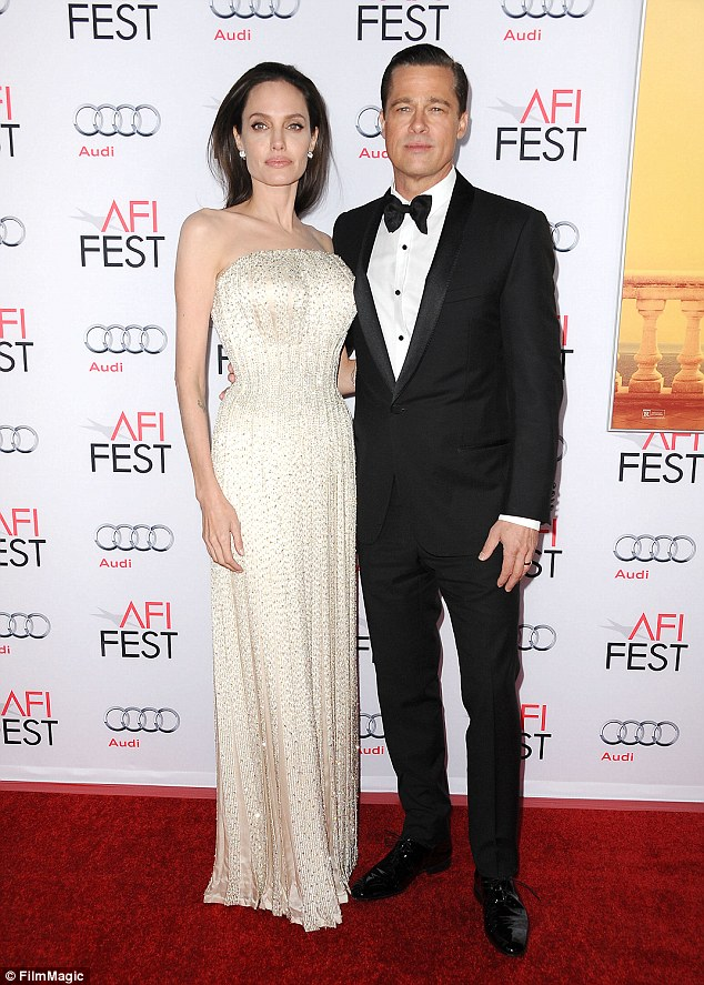 All over: Angelina Jolie filed for divorce from Brad Pitt on September 15 and Marion was said to be 'devastated' at having her name mentioned in reports