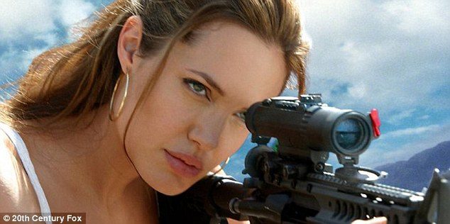 Hit film: Angelina an Brad played assassins hired by competing agencies to kill each other in romantic comedy Mr And Mrs Smith