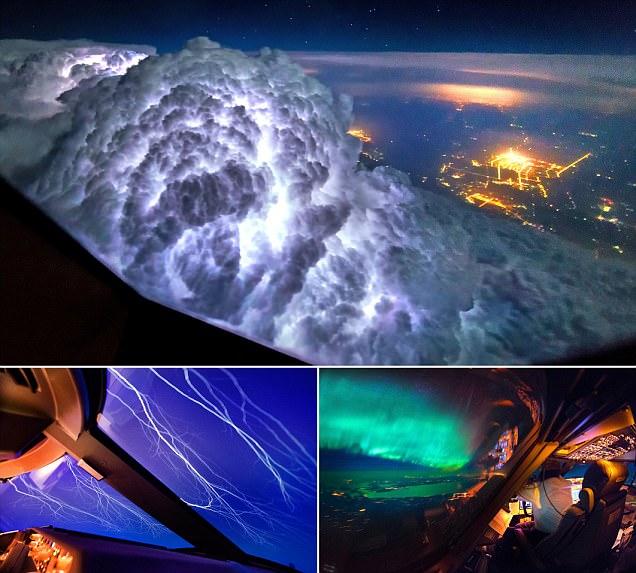 Christiaan van Heijst and Daan Krans' photos taken from inside a plane's cockpit