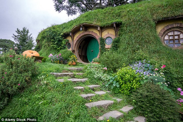 The house is almost the spitting image of Bilbo Baggins's fictional home in The Hobbit which was recreated as above in the film version of the book