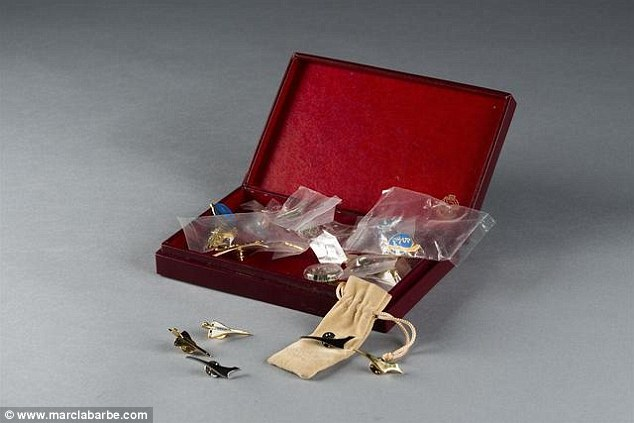 Worn with pride: A collection of Concorde pin badges might appeal to an avid fan