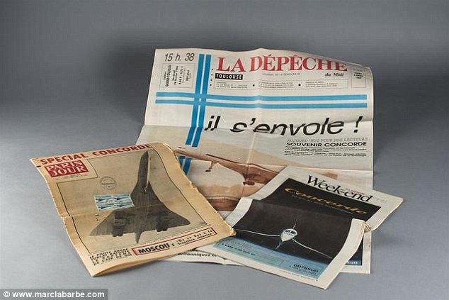 Sign of the times: Souvenir newspapers document the Concorde's launch