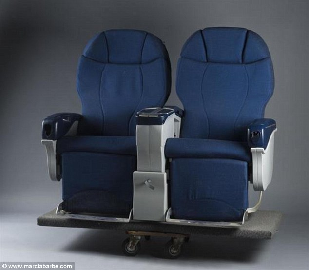 Ready for take-off: Seats - in sets of twos and threes - from the aircraft are also expected to command top dollar, with estimates running up to £2,575 (€3,000)