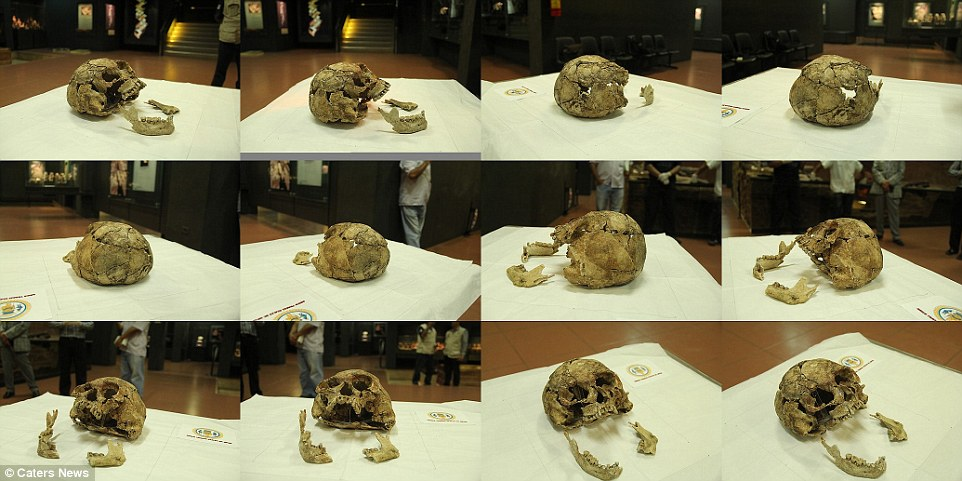 Cicero Moraes, 3D graphic designer, took 45 photographs of the bottom of the skull and 45 of the top section in orders to digitally recreate it