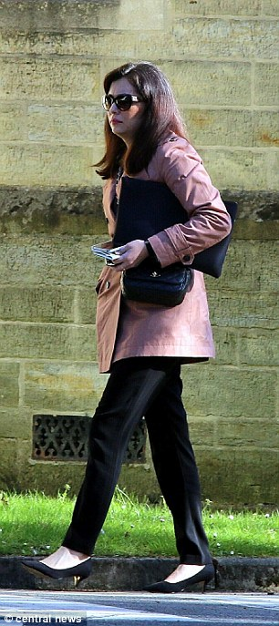 Naz, pictured outside Snaresbrook Crown Court yesterday, today denied telling police the 'CPS had gone on to believe a bunch of terrorists' over herself