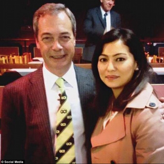 Naz, pictured right with former Ukip leader Nigel Farage, left, that following her decision to join the party in 2013 and build up a high profile, she was subjected to 'a lot of online hate'
