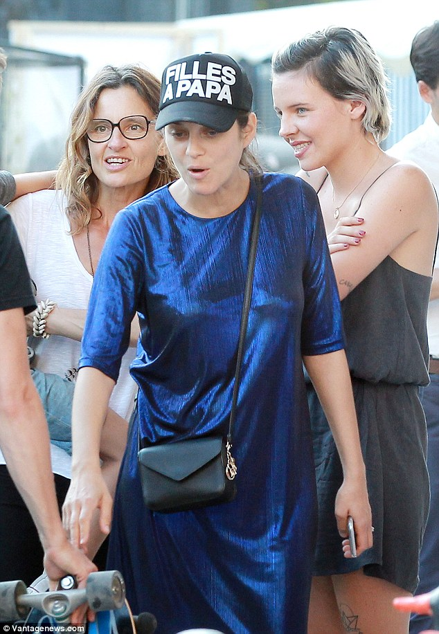 Make-up free: Marion was pictured two days ago at an ecological event for the protection of nature Ocean Climax at the Darwin Center in Bordeaux, France