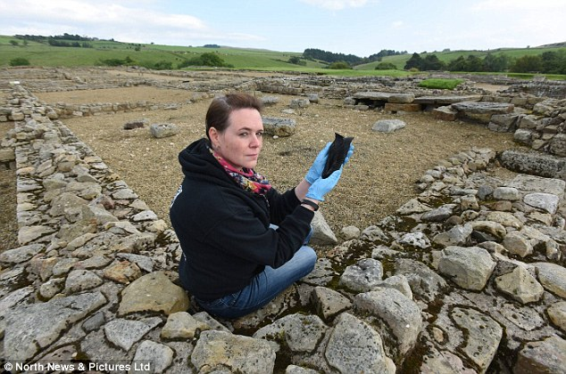 The shoe was discovered around a fortnight ago in the Severan ditch at the fort by Vindolanda archaeologists and will now go on permanent display. It is one of420 shoes to have been found in the ditch, which was a Roman rubbish dump