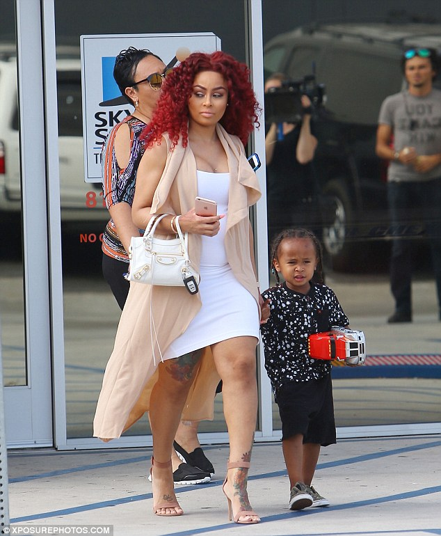 One the way:Until her met Chyna earlier this year, Rob had withdrawn from public life and was largely estranged from his family. The couple are expecting a little girl while Chyna has a son with TygaKing Cairo, 3 (pictured June)
