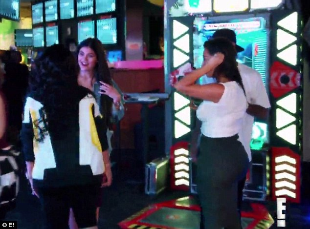 Moving on: In this Sunday's episode of their reality show, the 28-year-old pregnant star comes face-to-face with her ex Tyga and his girlfriend Kylie Jenner as they all attend Khloe Kardashian's birthday party