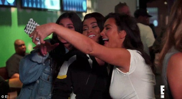 Keeping up: Chyna really tried to be part of the Kardashians posing up for Snapchat snaps with Kim and Kylie