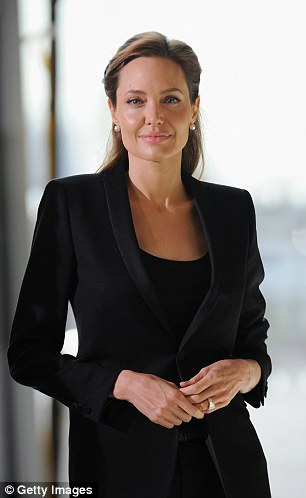 Angelina Jolie at the Global Summit to End Sexual Violence  in London